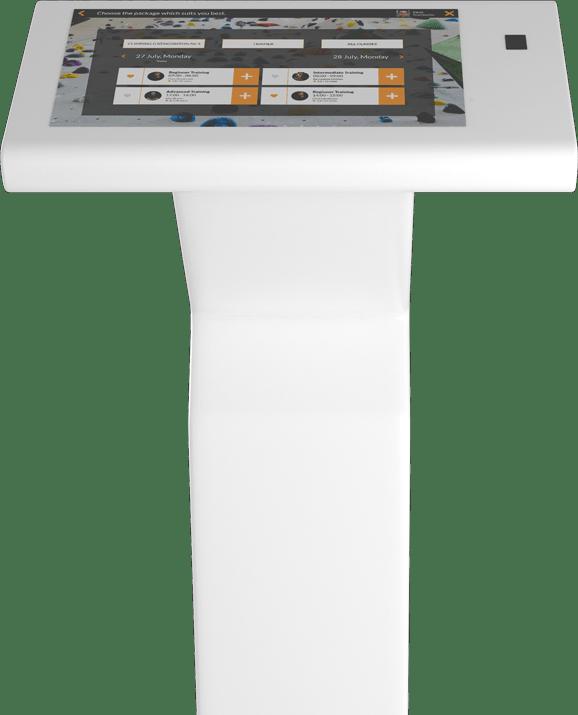 Self-service Kiosk in a climbing gym